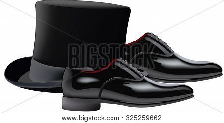 Cylinder Hat Reception Shoes Meeting Cylinder Hat Reception Shoes Meeting