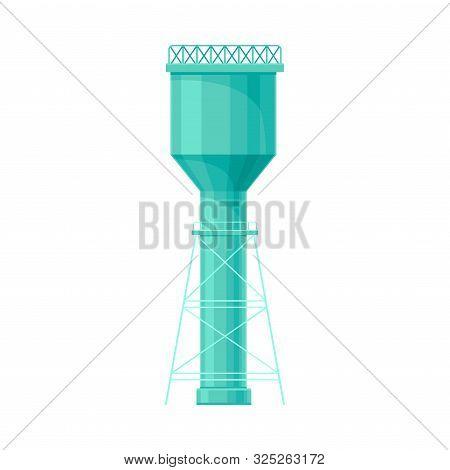 Bright Ultramatine High Water Reservoir Flat Vector Illustration
