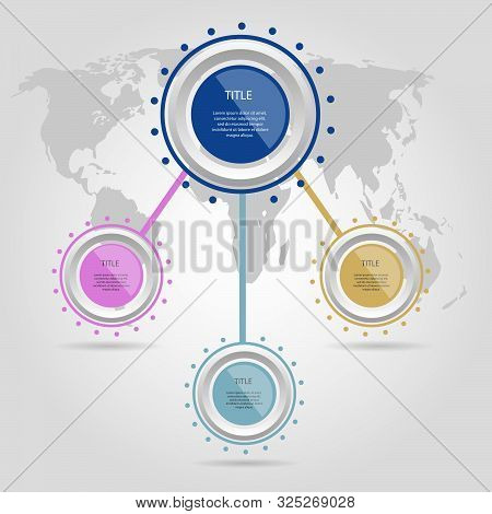 Infographic Circle Design Element Options  Vector  Eps 10
