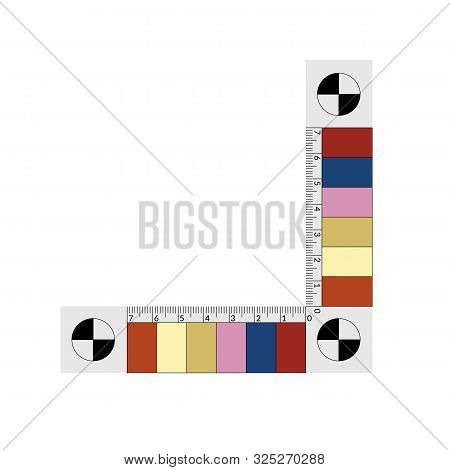 Forensic Ruler With A Color Samples Of A Bruise Age.