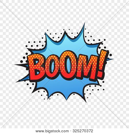 Boom Comic Style Word Isolated On Transparent Background