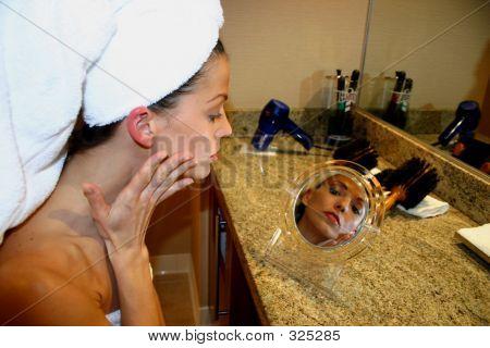 Woman In Mirror