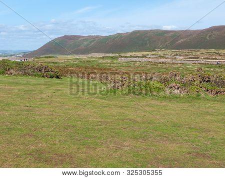 Worms Head South Wales Gower Peninsula Outside Coastal Scene