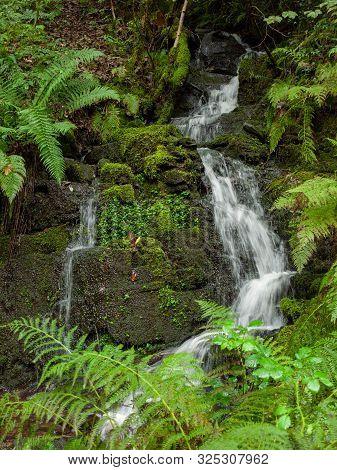 Beautiful South Wales Melincourt Falls Waterfall Rocks Wet