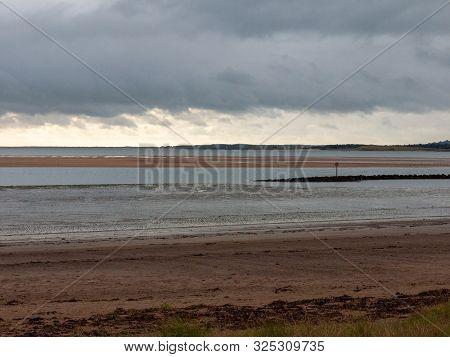 Llanelli Beach South Wales Sky Scene Outside Landscape Beauty