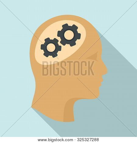 Logic Brain Icon. Flat Illustration Of Logic Brain Vector Icon For Web Design