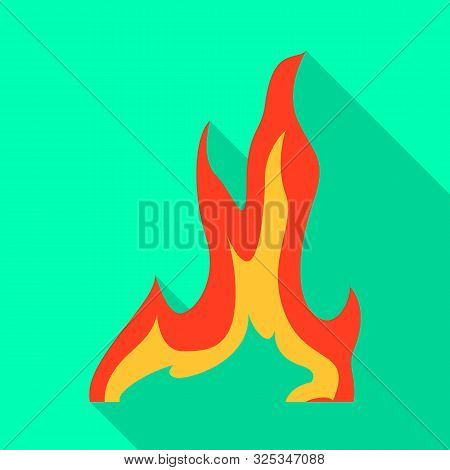 Vector Illustration Of Bonfire And Ignite Icon. Collection Of Bonfire And Temperature Stock Symbol F