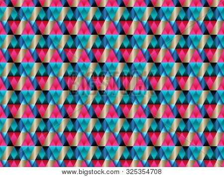 poster of Poly art grid geometric seamless vector background. Hypnotic polygon triangles geometric bauhaus design. Kaleidoscope style polygonal seamless background. Cool pattern design.