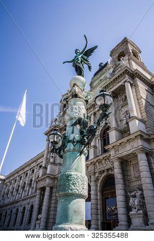 Exterior Of History Museum In Wien. Beautiful View Of Art History Museum. Naturhistorisches Museum W