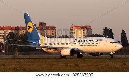 Borispol, Ukraine - September 10, 2019: Ur-psp Ukraine International Airlines Boeing 737-800 Aircraf