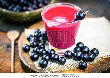 Jabuticaba Juice, Common Fruit Of The State Of Minas Gerais, Brazil. Rare Fruit In South America.