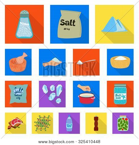 Vector Design Of Raw And Kitchen Icon. Set Of Raw And Sea Stock Symbol For Web.