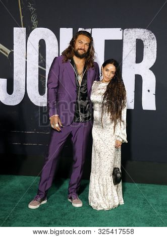 Lisa Bonet and Jason Momoa at the Los Angeles premiere of 'Joker' held at the TCL Chinese Theatre IMAX in Hollywood, USA on September 28, 2019.