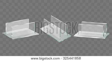 Acrylic Glass Table Talker, Plastic Holder For Advertising Brochures, Promotional Banners And Leafle
