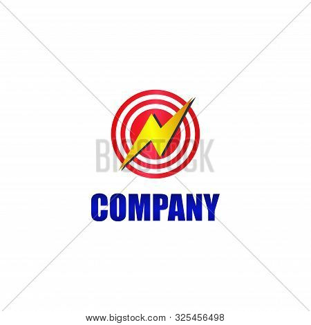 Big Watt, High Voltage, Lightning Bolt Icon, Circle Energy And Electricity Logo Concept, Electrical