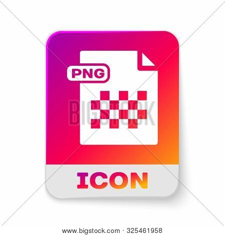White Png File Document. Download Png Button Icon Isolated On White Background. Png File Symbol. Rec