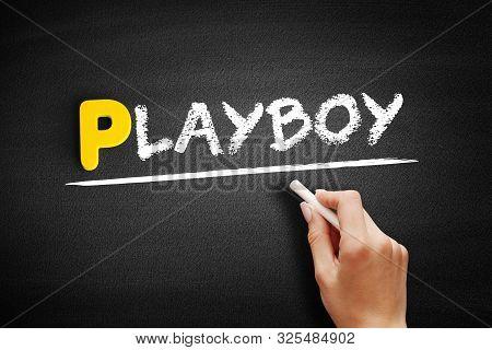 Playboy - Text On Blackboard, Concept Background