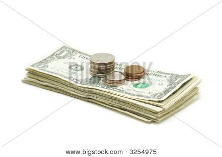 Stack Of Money & Coins