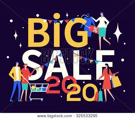 2020 Big Sale Advert Vector Colorful Banner Template