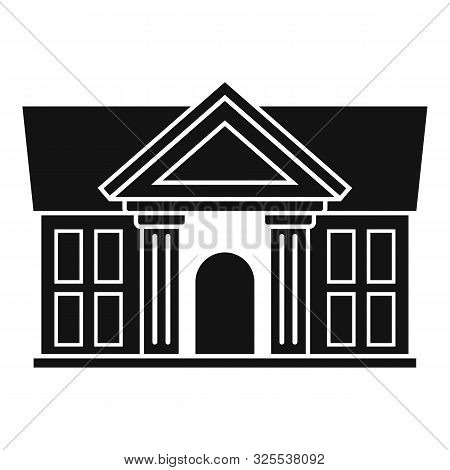 Justice Court Building Icon. Simple Illustration Of Justice Court Building Vector Icon For Web Desig