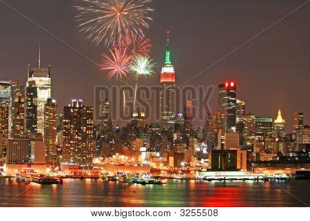 Mid-Town Manhattan Skyline