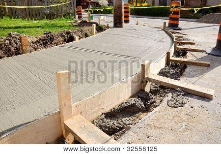 Resurfacing Urban Sidewalk