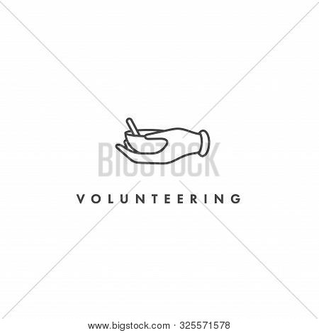 Vector Logo, Badge And Icon For Charity And Volunteer Concepts. Food Sharing Sign Design. Symbol Of