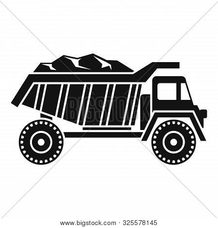 Coal Dump Truck Icon. Simple Illustration Of Coal Dump Truck Vector Icon For Web Design Isolated On