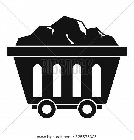 Mine Coal Wagon Icon. Simple Illustration Of Mine Coal Wagon Vector Icon For Web Design Isolated On