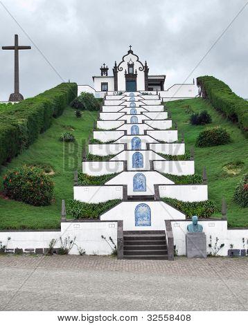 Church At Sao Miguel Island