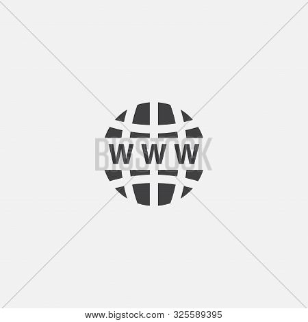 Domain Name Base Icon. Simple Sign Illustration. Domain Name Symbol Design. Can Be Used For Web And