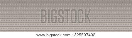 Hand Drawn Ethnic Horizontal Stripe Seamless Border Pattern. Modern Lines Hand Drawn In Homespun Bro