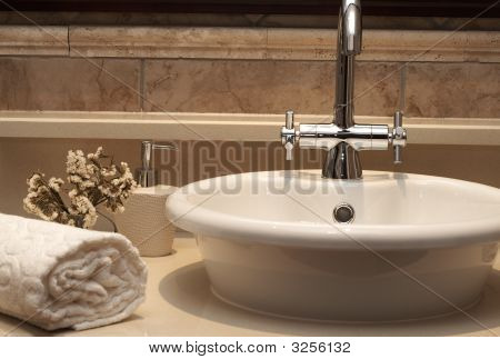 Beautiful Sink In A Bathroom