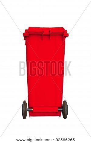 Large Red Garbage Bin