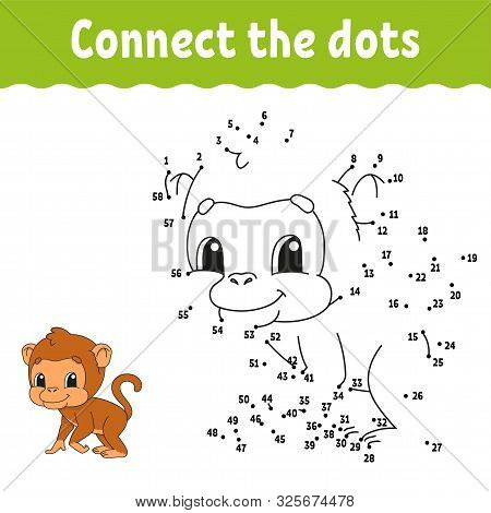 Dot To Dot. Draw A Line. Handwriting Practice. Learning Numbers For Kids. Education Developing Works