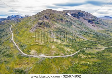 Aerial Footage Of Aurlandsfjellet - National Scenic Routes In Norway.