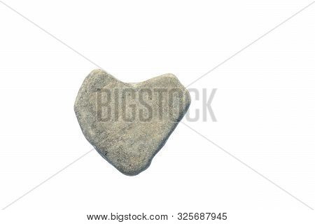 Heart Shaped Stone. Man With Stone Heart. Concept Of Cruel, Callous, Indifferent Person
