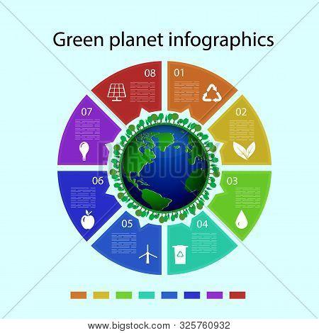 Ecology Infographics Design Elements. Vector Illustration. Eps10