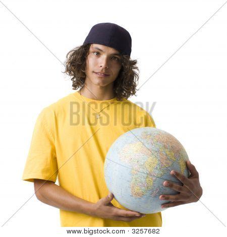 Boy With Globe