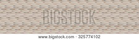 Hand Drawn Marble Broken Vertical Stripe Seamless Border Pattern. Modern Lines, Hand Drawn In Brown,