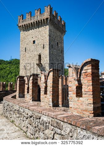 Medieval Fortress Vigoleno In Emilia-romagna Region, Italy