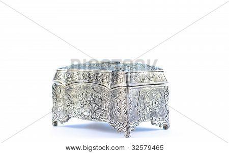 German silver jewel box