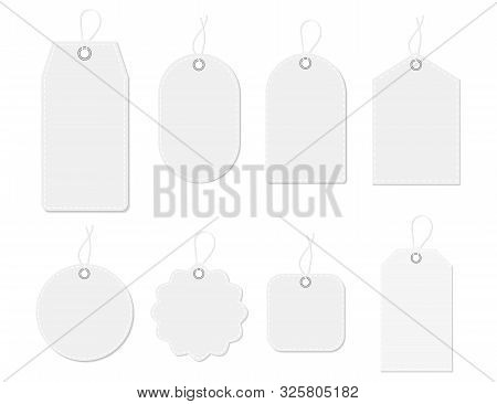 Mockup Tag, Paper Label. Template Blank Tag For Price Shopping, Hang Sale, Gift Card.design Labels W