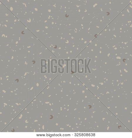 Hand Made Washi Paper Texture Seamless Pattern. Tiny Speckled Hand Drawn Flecks . Soft Ecru Off Gray
