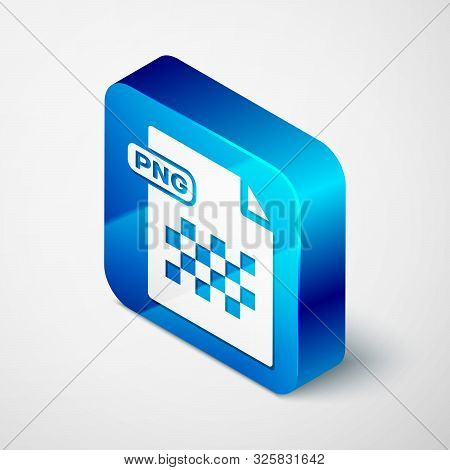 Isometric Png File Document. Download Png Button Icon Isolated On White Background. Png File Symbol.