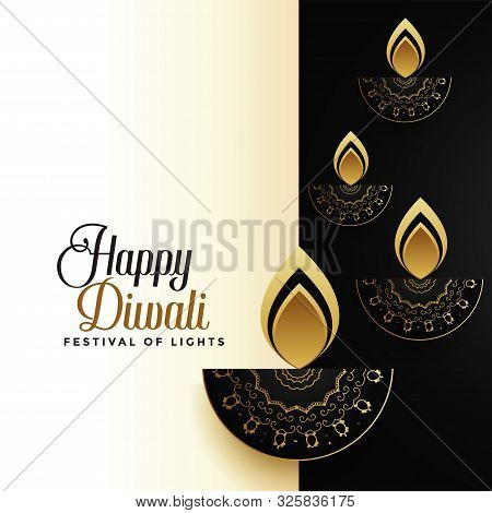 Happy Diwali Premium Holiday Greeting Card Design