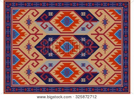 Vintage Luxury Oriental Carpet In Yellow, Maroon Shades With Gray And Ultramarine And Orange Pattern