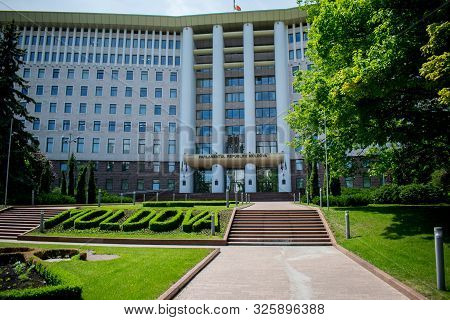 The Parliament Building Of The Republic Of Moldova, Parliament Of The Republic Of Moldova In Chisina