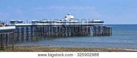 Llandudno, Wales, June 10. The Pier On June 10, 2019, In Llandudno, Wales. A Sunny Day On Llandudno