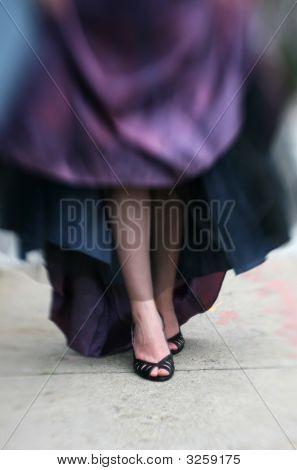 Black Heels And Prom Dress
